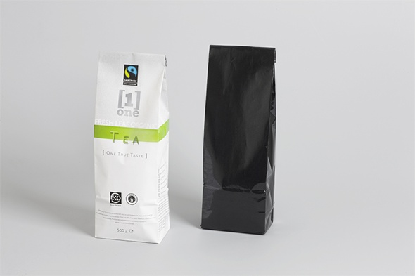 coffee & tea coated paper bag