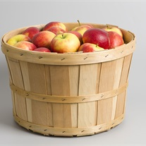 apples - wooden basket