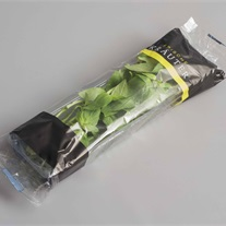 herbs - plastic tray with flowpack film